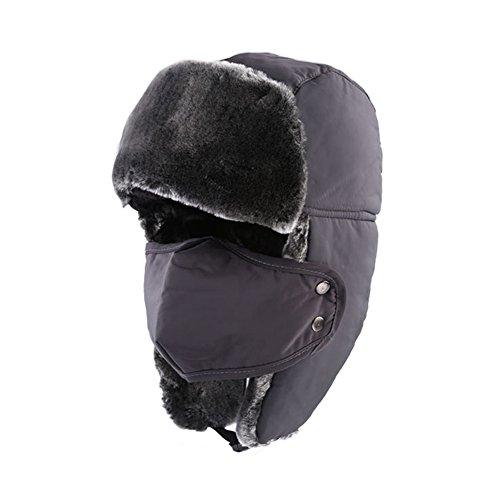 [Bluestar Winter Trooper Trapper Hat for Women Men, Thick Warm Winter Ski Outdoor Hunting Cap(Grey)] (Baby State Trooper Costume)