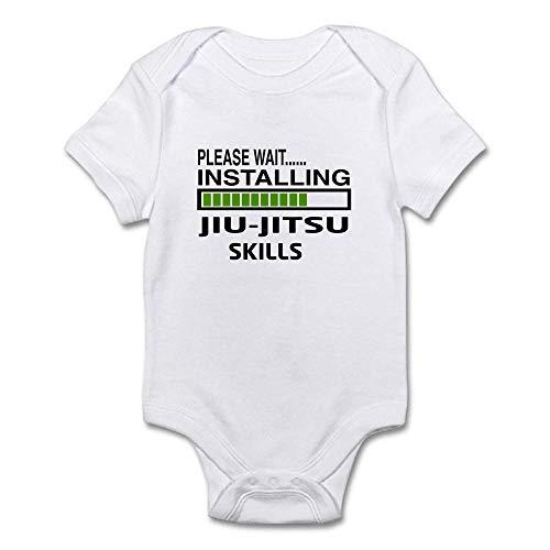 Please Wait, Installing Jiu Jitsu Funny Baby Bodysuit (Baby Jiu Clothes Jitsu)