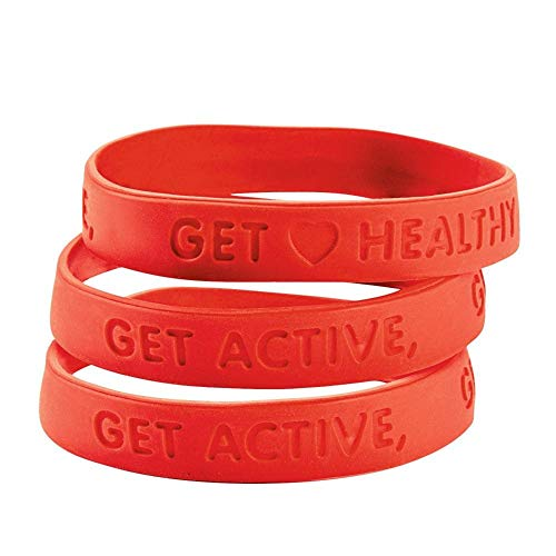 Heart Health Rubber Bracelets by Fun Express