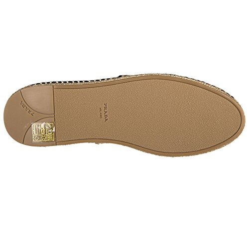Espadrilles Cotton on Slip Women's Prada Shoes Black wEzqpx50
