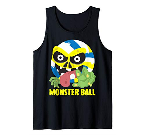 Volleyball Monster Ball Scary Cool Player Halloween Costume Tank Top