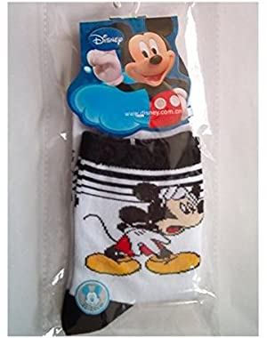 Mickey Socks, White/Black, 22-24 cm