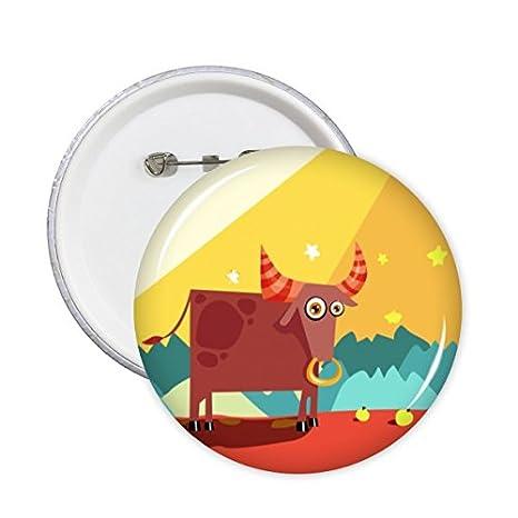 Nuevo Taurus Zodiac Constelación ropa Mochila Decorar Placas de Kawaii Etiqueta de dibujos animados ropa Patche cabrito del regalo de broches decorativos: ...