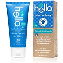 Hello Oral Care Kids Fluoride Toothpaste, Blue Raspberry, 4.2 Ounce(Pack Of 4)