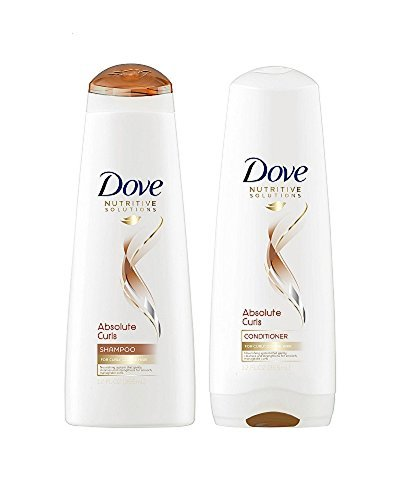 Dove Nutritive Solutions Absolute Curls Shampoo & Conditioner 12 Fl. Oz. Each (Curl Shampoo Conditioner)