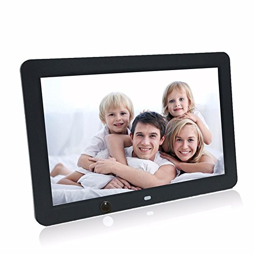 Celendi Digital Photo Frame,12-inch High-Definition Ultra-Thin with Motion Sensor with Remote Control MP3 Video Player