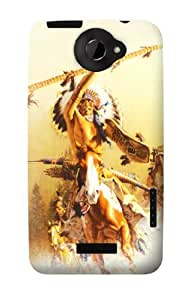 S1087 Red Indian Warrior Case Cover For HTC ONE X