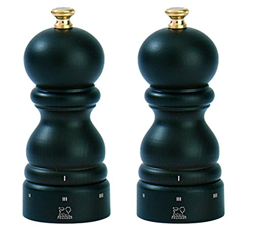 Peugeot Paris U'Select 5-Inch Pepper & Salt Mill Set, Chocolate - Peugeot Paris Classic Chocolate