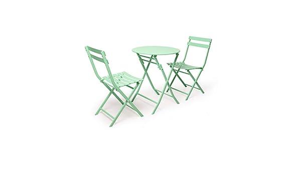 XXHDYR Juego de mesas y 2 sillas mesas y sillas de jardín ...