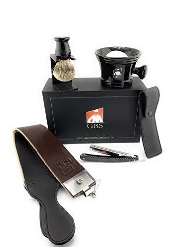 GBS Men's Gift Set - Shave Ready Gold Dollar Straight Razor 5/8