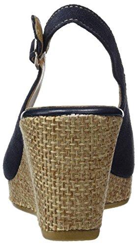 Tamaris 29303, Sandalias con Cuña Para Mujer Azul (Navy/rope 891)