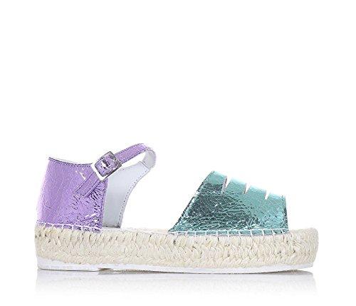 LAGOA - Sandale bleu clair et lilas en cuir, idéale pour ceux qui cherchent une création de qualité, Fille, Filles, Femme, Femmes