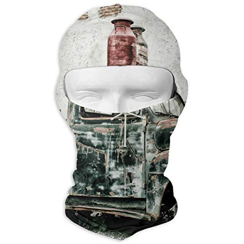 Scrap Truck North America Oldtimer Men Women Balaclava Neck Hood Full Face Mask Hat Sunscreen Windproof Breathable Quick Drying ()