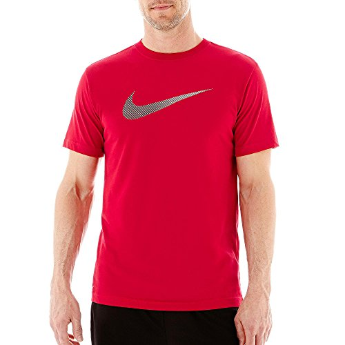 888408763068 - Nike Men's Swoosh Athletic Short Sleeve Tee (M, 687 Gym Red/Black) carousel main 0