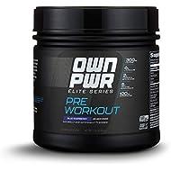 OWN PWR Elite Series Pre Workout Powder, Blue Raspberry, 25 Servings, Keto Friendly, 5G Creatine, 2G Beta Alanine (as CarnoSyn), 300mg Caffeine & more