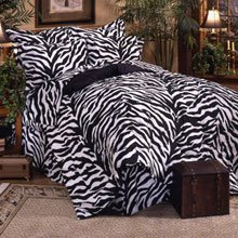 Black Zebra 6 Pc TWIN Comforter Set, One Matching Shower Curtain, and Set of (Two) Matching Window Valance/Drape Sets; Entire Set Includes: (1 Comforter, 1 Flat Sheet, 1 Fitted Sheet, 1 Pillow Case, 1 Sham, 1 Bedskirt, 2 Valance/Drape Sets) SAVE BIG ON BUNDLING! ()