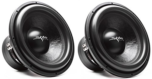 "(2) Skar Audio VXF-15 D4 15"" 3000 Watt Max Power Dual 4 Ohm Competition Car Subwoofers"