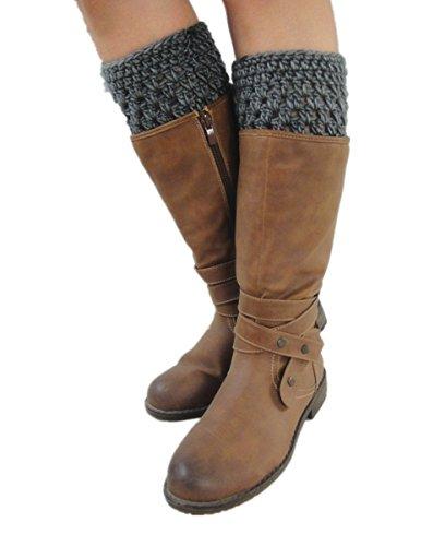 Tinacrochetstudio Crochet Boot Cuffs Womens Leg Warmers Topper Sock (S( (Handmade Crocheted Stocking)