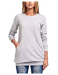 BIUBIU Women's Casual Long Sleeve Cotton Loose Fit Blouse Tops with Pocket S-3XL