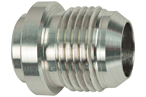 ICT Billet Aluminum -10AN Weld On Bung Male Hose End Nipple Weldable 10 AN Flare Thread Connector Fluid Designed & Manufactured in the USA Bare AN970-10A