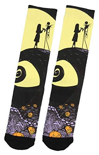 Jak Nightmare Before Christmas Jack Skellington And Sally Adult Crew Socks 1 Pair Leggins Noghtmare Sock Chistmas Real De Niggtmare Junior Skelington