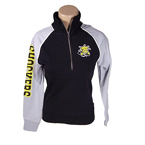Glitter Gear Wichita State Shockers Official NCAA Zipper Pullover Cross Country by Shirt Small (State Tee Glitter)