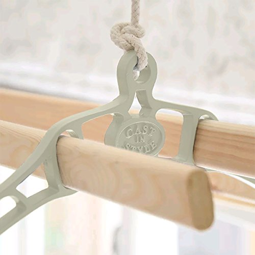 Premium British Cast Iron Ceiling Airer Victorian 4-Slat Bracket Heritage Collection French Grey 4ft Slats by ClarUSA