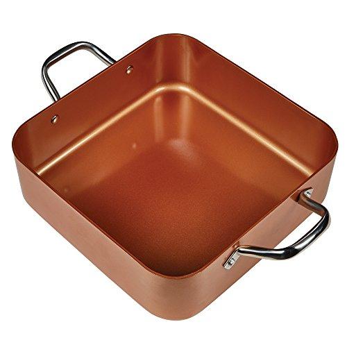 "Copper Chef 8"" /11"" Deep Dish Pan 4 Pc Set"