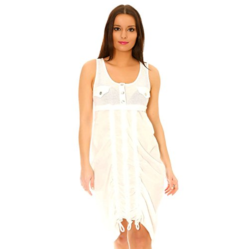 Miss Wear Line -  Vestito  - plissettato - Senza maniche  - Donna