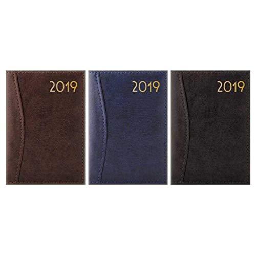 Agenda de poche 2019 A7 en relief et cousu semainier WTV effet cuir