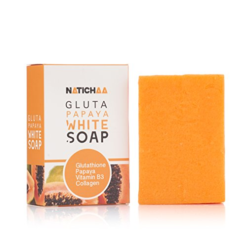 Glutathione & Papaya Whitening Soap - Natural Skin Lightener - Reduce Dark Spots, Acne Scars & Age Spots - Acquire A Soft, Silky Smooth Skin Naturally For Body & Facial (Papaya Soap Whitening)