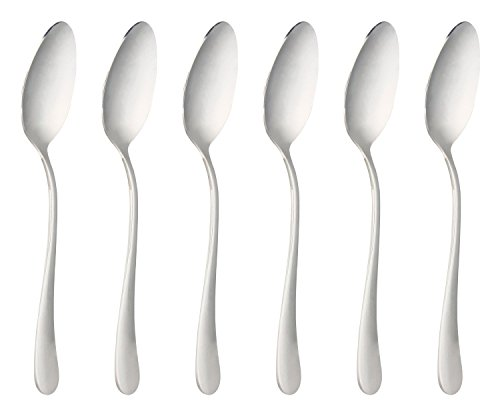 Oval Soup Spoon - Einfach Stainless Steel Oval Soup Spoons Large Spoons Table Dinner Spoons Set of 6