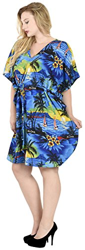 bagno LEELA sera beachwear tramonto costumi caftano aloha da bagno da LA costume bikini coprire j95 vestito Blu Udxvqvn
