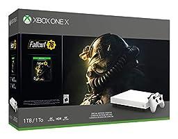 Microsoft Xbox One X White Special Edition 1TB/2TB Fallout 76 Bonus Bundle: Fallout 76, Xbox Wireless Controller, Xbox One X 4K HDR Console - White