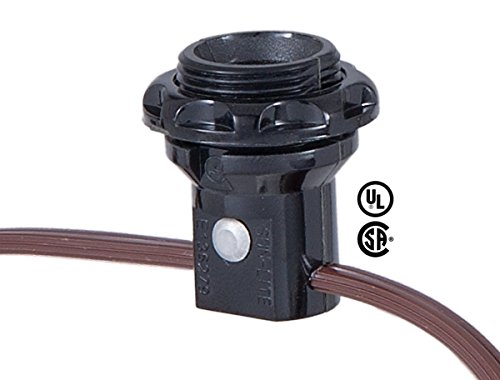 B&P Lamp 3-Light, E12 Candelabra Socket Harness Set, Each with phenolic Ring and 18/2 Wire Leads ()