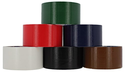 RamPro Heavy-Duty Duct Tape | Assorted Colors Pack of 6 Rolls, 1.88-inch x 10 Yard – Colors Included: Blue, Green, Red, Brown, Black & (Birthday Duct Tape)