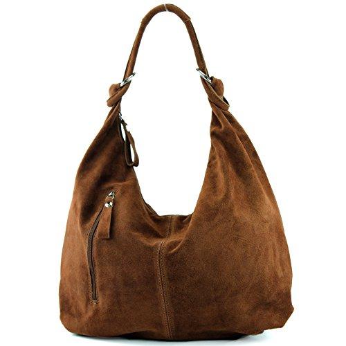 Made Italy - Bolso de tela para mujer marrón