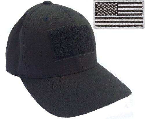 Flexfit Mid-Profile Tactical Cap (X-Large/XXL (7 3/8 - 8), Black)