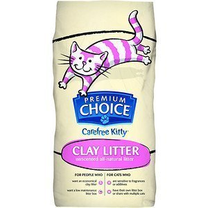 Carefree Kitty Natural Unscented Cat Litter, 50 Pound Bag