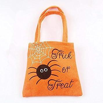 Amazon.com: Weite Halloween Bolsa de tela para caramelos ...