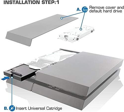 Storite (Playstation 4 PS4 Storage Expansion Hard Drive 3TB DataBank (GameBar) - 1 Year Warranty (3TB)