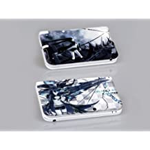 Nintendo 3DS XL BLACK ROCK SHOOTER Protective Vinyl Skin Decal Set by 3DS XL Skins