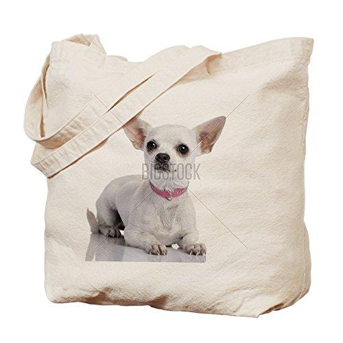 Cafepress–chihuahua cagnolino con colletto rosa (6–Borsa di tela naturale, panno shopping bag