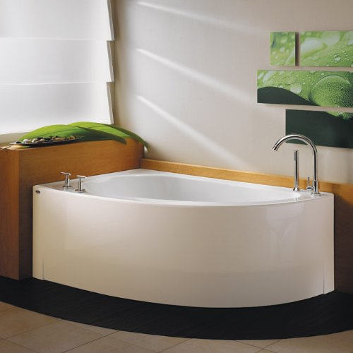 Neptune Wind Soaker Bath Tub with Skirt 60 x 36 x 21 WI60S Biscuit