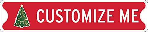 063 Aluminum Sign (Christmas Decoration Sign, Custom Holiday Design, Personalized Sign, 18