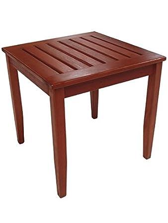 Amazon De Beistelltisch Holz 45x45 Tisch Gartentisch Hartholz
