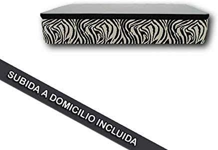 Ventadecolchones - Canapé Abatible Serena Gran Capacidad Tapizado en Zebra Blanco Negro Medidas 80 x 180 cm en Tejido 3D