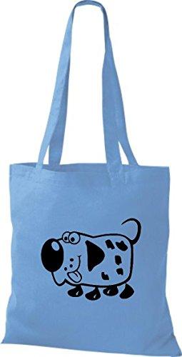 Mujer De Claro Algodón Para Tela Shirtstown Azul Bolso q7XwPwpZ
