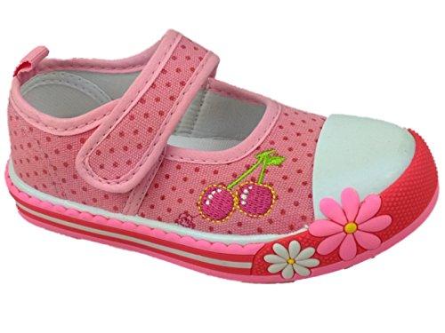 Foster Footwear - Zapatillas de Lona para niña Rosa rosa 36.5 Rosa cerezo