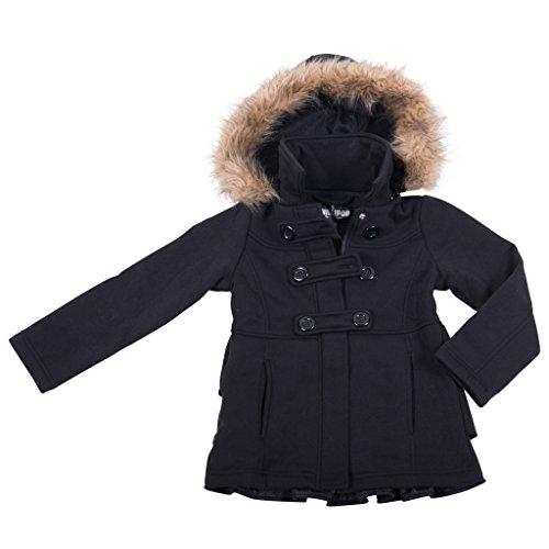 39809-typicalblack-10-12-girls-fleece-jacket-faux-fur-trim-hooded-coat